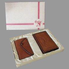 Vintage Cavalier Billfold Wallet and Matching Key Holder in Original Gift Box – 1950's