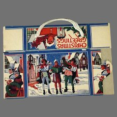 Vintage Christmas Candy or Cookie Box with Carolers – Unused Condition, Nice Tree Decoration