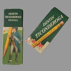 Vintage Dixon Ticonderoga Cardboard Pencil Box - Empty