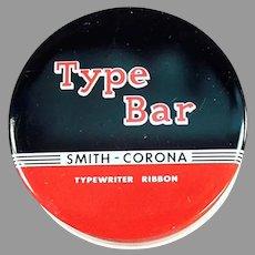 Vintage Smith Corona Typewriter Ribbon Tin - Type Bar