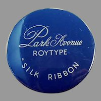 Vintage Park Avenue Typewritter Ribbon Tin - Roytype Silk Ribbon Tin