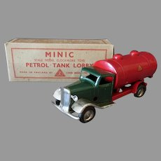 Vintage Tri-Ang Minic Toy - Petrol Tank Lorry Gas Truck with Original Box