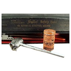 Vintage Griffon Safety Razor - Complete Set with Original Tin, Strop and Box