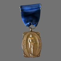 Vintage 1927 Quincy Relays Sports Medal – 1st Place One Mile Medley Relay