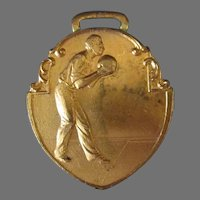 Vintage 1928 State Championship Bowling Tournament Sports Medal Fob