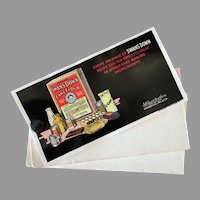 Vintage Celluloid Advertising Ink Blotter with Sharp Graphics - Swans Down Cake Flour