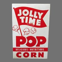 Vintage Jolly Time Popcorn Box - 1950's with Sharp Graphics