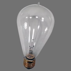 Working Vintage Electric Light Bulb – 32/120 Sunlight with Looped Filament