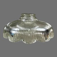 Single Vintage Light Fixture Shade, Shallow with Scalloped Edge