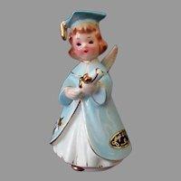 Vintage Josef Originals – Girl Angel Graduate Figurine with Original Label