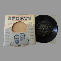 Vintage Calvalcade of Sports 33 1/3 Record with Dempsey, Rockne, Gehrig & Others