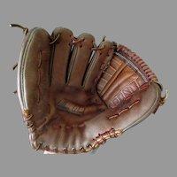 Vintage Leather Baseball Mitt Glove – Wilbur Wood Autograph Model Registered #60-21208