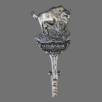 Vintage Yellowstone Souvenir Demitasse Spoon with Buffalo and Deer – DAI Holland