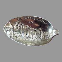 Vintage Sterling Silver Spoon - San Gabriel California Mission Souvenir