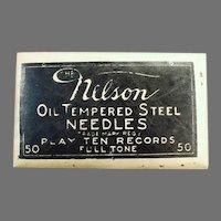 Vintage Steel Phonograph Needles - Unopened Nelson 50 Package