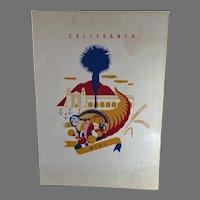 1940 Vintage S.S. President Harrison American President Lines Menu - California Graphics