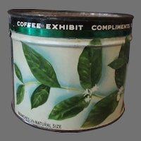 Vintage Coffee Bureau Exhibit Advertising Tin