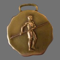 Vintage Pole Vault Sports Medal Watch Fob – Bastian Bros. Co. – Not Inscribed
