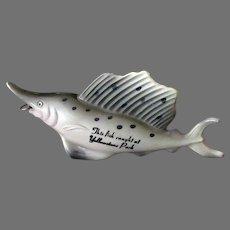 Vintage Celluloid Sailfish Tape Measure – Yellowstone Park Fish Souvenir