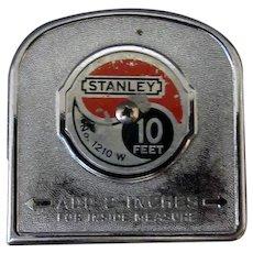 Vintage Stanley #1210W  Tape Measure - 10 Foot Steel Tape