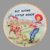 Child's 1949 Vintage Voco Picture Record – Git Along Little Dogie & Bronco Buster