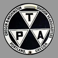 Vintage Celluloid Luggage Tag T.P.A. Portland Oregon Advertising