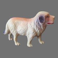 Vintage Miniature U.S.A. Celluloid Toy Dog, Possibly St. Bernard Figure