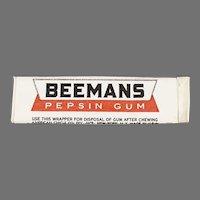 Stick of Beemans Vintage Pepsin Chewing Gum - Unused Never Opened