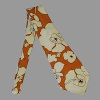 Men's Handmade Vintage Necktie - 1960's - Bold Statement
