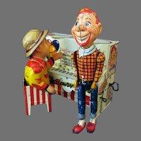 Vintage Howdy Doody & Buffalo Bob at Piano Wind-up Toy - Unique Art