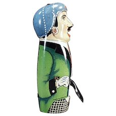 Antique Sparking Flint Friction Tin Toy - Gentleman from Germany