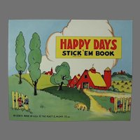 Child's Vintage Platt and Munk, Unused Happy Days Stickers Book - 1940's