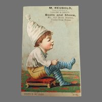 Antique Advertising Trade Card from San Francisco - Reubold Boot and Shoe Dealer