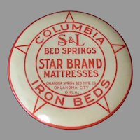 Vintage Celluloid Advertising Clothes Brush - Iron Beds, Springs & Mattresses