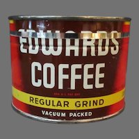Vintage 1/2# Coffee Can - Half Pound Edwards Key Wind Tin