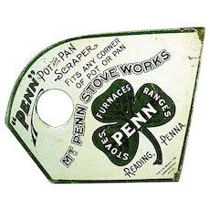 Vintage Mt. Penn Stove Works Lithographed Advertising Pot & Pan Scraper