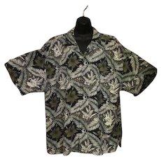Vintage Tommy Bahama 100% Silk Casual Shirt with Hawaiian Girls - Size XXL