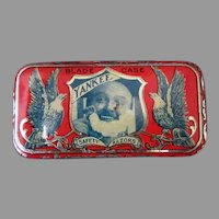 Antique Yankee Razor Blade Tin – Small Advertising Tin with Great Graphics, No Blade