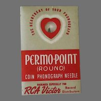 Vintage Coin Operated Phonograph Needle - RCA Victor Permo-Point - Unused