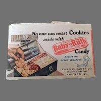 Vintage Lipstick Tissues - Baby Ruth Candy Bar Cookie Recipe & Kleenex Advertising