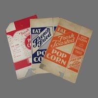 Three Different, Unused Vintage Popcorn Boxes – Fun Advertising