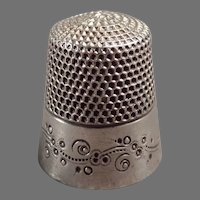 Vintage Sewing Thimble - Ketcham & McDougall Sterling Silver - Pretty Design