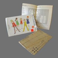 Vintage Mod Fashions for Young Girl – Butterick #5688 Pattern - Size 6