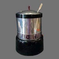 Vintage Hot Fudge Sundae Electric, Fountain Warmer Dispenser with Nestle's Ladle