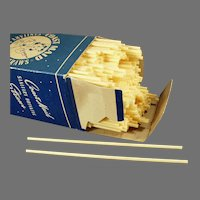 Vintage Coast Maid Paper Straws - Large Box, Approximately 500 Straws