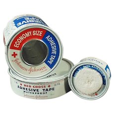 Assorted Vintage J & J Red Cross Advertising Tins