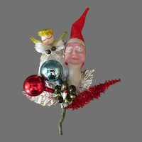 Vintage Christmas Decoration Ornament with Santa Claus, Angel and More