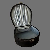 Antiques Collar Box with Collar Button Box Inside - Black Leatherette Paper Covered