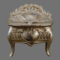 Vintage Casket Jewelry Dresser Box - Des Moines, Iowa Souvenir - Graceful Style