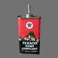 Vintage Oil Tin - Texaco Home Lubricant Oil, Texas Co. Advertising